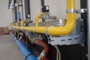 kiln gas and air installation