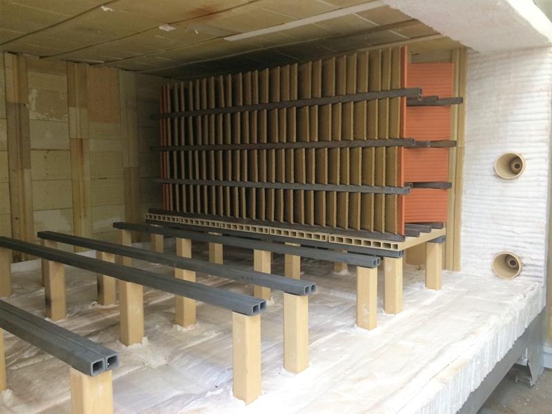 shuttle kiln for roofing tiles