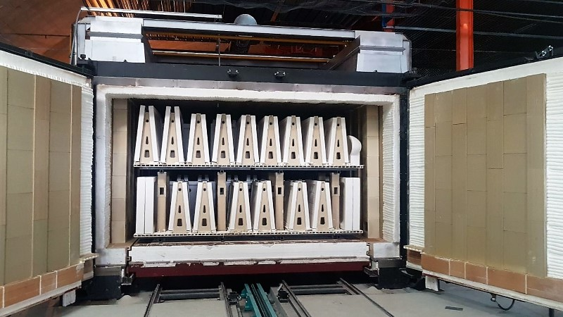 shuttle kiln for sanitaryware